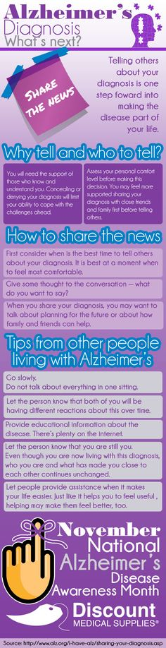 November marks the month in which many people around the US gets to continue the efforts on raising more awareness around this... See more at: http://www.discountmedicalsupplies.com/doctors/caregiver/alzheimer%E2%80%99s-diagnosis-what%E2%80%99s-next