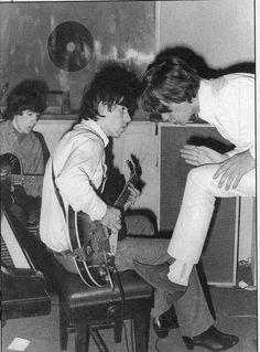 Bill Wyman, Keith Richards, and Mick Jagger