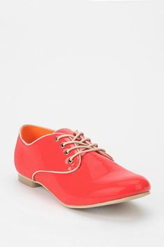 Coral Patent Oxford #urbanoutfitters