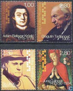 Postage Stamps - Croatia - Personalities