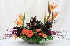 Birds of Paradise, Roses, Gerberas, Dendrobium Orchids, Hypericum