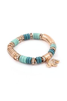 Ellie Charm Bracelet in Turquoise