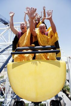 Funny pictures about Pursuit of Happiness: Buddhist monks on roller coaster. Oh, and cool pics about Pursuit of Happiness: Buddhist monks on roller coaster. Also, Pursuit of Happiness: Buddhist monks on roller coaster. I Smile, Your Smile, Make You Smile, Are You Happy, I'm Happy, Happy Smile, We Are The World, People Of The World, Little Buddha