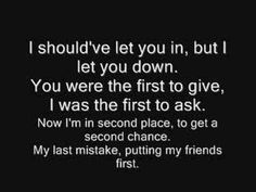Faber Drive - Second Chance Lyrics - YouTube