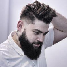 Gentleman Haircut with beard