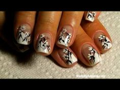 ▶ SUMMER 2013 FRENCH Manicure Nail Art # 180 - YouTube