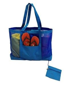 Deluxe Oversized Mesh ( Heavy Duty ) Beach Gym Tote Bag with ...
