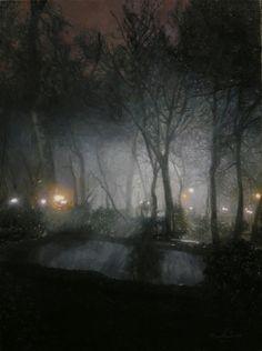 sheida Keyhan Haghighi |   Dream of night | Oil on Canvas  20.47 x 27.55 inches