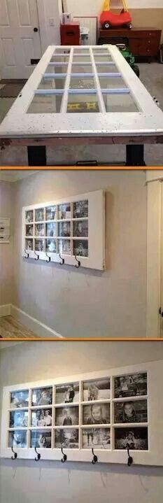 Awesome way to reuse an old door. home improvement id. - Awesome way to reuse an old door. home improvement ideas - Home Projects, Home Crafts, Diy Crafts, Design Projects, Recycled Crafts, Craft Projects, Cheap Home Decor, Diy Home Decor, Unique Picture Frames