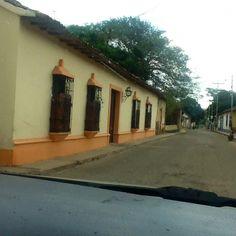Casas y calles de Curarigua, edo. Lara Venezuela