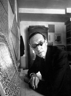 William S Burroughs photographed in Paris in October 1957 by Loomis Dean