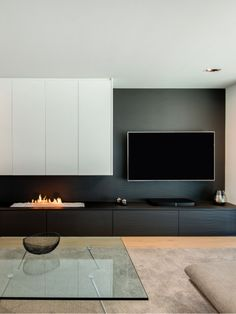 Modern Fireplace with Tv On Side . Modern Fireplace with Tv On Side . Home Fireplace, Modern Fireplace, Living Room With Fireplace, Fireplace Design, Custom Fireplace, Fireplace Furniture, Tv Furniture, Furniture Ideas, Furniture Design