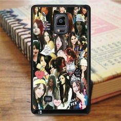 Selena Gomez Awesome Smile Collage Samsung Galaxy Note 4 Case