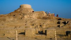"""Built around 2600 BC in present-day Pakistan, Mohenjo-daro was one of the early urban settlements in the world. It is sometimes referred to as """"An Ancient Indus Valley Metropolis"""". It has a planned layout based on a grid of streets, which were laid out in perfect patterns. At its height the city probably had around 35,000 residents. The buildings of the city were particularly advanced, with structures constructed of same-sized sun dried bricks of baked mud and burned wood."""