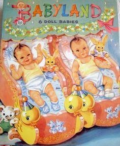 Vintage Babyland paper dolls.