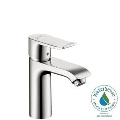 Hansgrohe Metris Single Hole 1-Handle Low-Arc Bathroom Faucet in Chrome-31080001 - The Home Depot