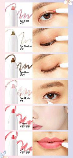 Make-up Produkte Korean Etude House Ideen - Makeup Products Lipstick Avon Products, Best Makeup Products, Beauty Products, Korean Natural Makeup, Asian Eye Makeup, Korean Beauty, Natural Beauty, Makeup Lipstick, Makeup Art