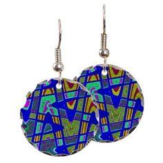 Bright Blue Abstract Art Earrings http://www.cafepress.com/+bright_blue_mod_abstract_earring_circle_charm,1001203549?utm_source=twitter&utm_tracking=social&utm_content=pdp