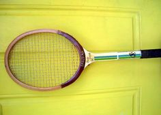 Vintage Wood Tennis Racquet Spalding Pancho by SmallVintageStore