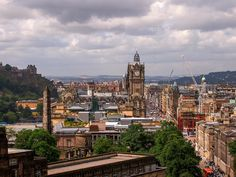 View of Edinburgh New Town from Calton Hill