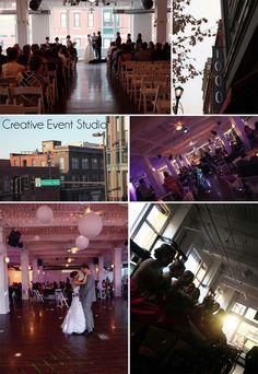 Club 1000 Venue - Kansas City Wedding Venue {www.creativeeventstudio.com}, loft wedding decor ideas