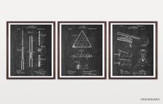 THE BEAUTY OF INVENTION:  Patent Prints are the perfect way to cherish both the history and design of your favorite inventions. These graphic line drawings are an innovative way to liven up your walls with a touch of knowledge and elegance! We offer them in a range of styles that can strike a balance within any interior. Chalkboard is head-of-the-class smart, sharp and graphic. Blueprint is engineering elegant and as vivid as the sky. Warm Toned is subtle and sophisticated offering a quieter…
