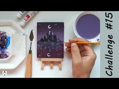 How to Paint a reflection (dreamy night sky) ✨ Acrylic Painting timelapse | 2020 Art Challenge #15 - YouTube Art Challenge, Night Skies, Art Tutorials, Reflection, Challenges, Sky, Drawings, Youtube, Painting