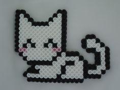 White Perler Kitty by *TsukiHimeChii on deviantART