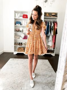 8 Outfits To Wear With White Mules - Simply Sutter - spring outfit yellow sundress Source by monicsutter - Cute Date Outfits, First Date Outfits, Cute Casual Outfits, Spring Outfits, Sundress Outfit, Yellow Sundress, Dress Outfits, Clothes For Women, Florida Outfits