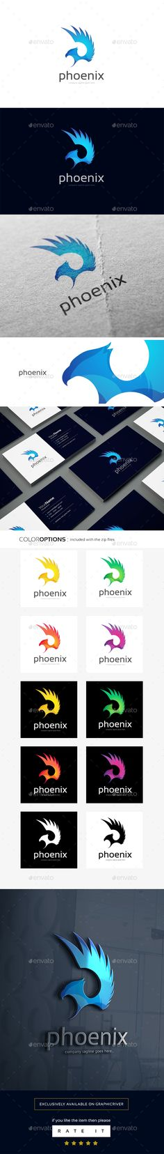 Phoenix Logo Template — Vector EPS #clean #innovation • Available here → https://graphicriver.net/item/phoenix-logo-template/16496609?ref=pxcr