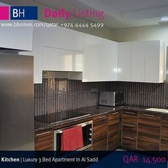 Today's Daily Listing FOR RENT: 3 Bedroom Luxury Apartment in Al Sadd for QAR 14500 Fully Furnished.  To see more images of Today's Daily Listing visit our home page.  To schedule a viewing call 974 4444 5499 or visit our Doha Branch Office located on the ground floor of Al Mana Business Tower on CRing Road.  #bhrent #bhdoha #portoarabia #qatar #qtr #qtri #qatarlife #qatarinstagram #instagramqatar #instaqatar #qatar2016 #qatargram #qatarliving #qatarinsta #dohaqatar #qatarphoto #qtr_photos…