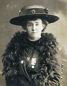 Portrait of Emily Davison, british suffragette, who ran in front of the King's horse at the 1913 Epsom Derby and was considered a martyr by her fellow suffragettes.