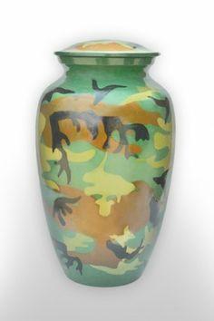Jungle Camouflage Adult Metal Urn