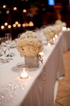 Wedding Table Decorations | Wedding Decorating Table Ideas Photograph | Winter Wedding T