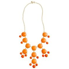 J. Crew Coral Bubble Necklace.   Don't forget to accessorize.