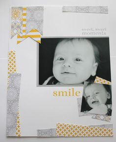 Heather Summers simple scrapbook layout