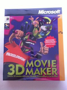 MS 3D Movie Maker: Nickelodeon Edition PC CD make own cartoon characters videos! #Microsoft #Nickelodeon  - I never had the Nickelodeon version, but loved the original!