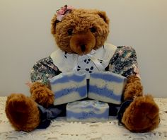 """1-15-17, """"Beary Blueberry Oatmeal""""   Facebook: Jackie' Bubbles."""