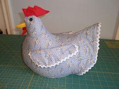 Chicken doorstop tutorial @Kristin Plucker :: Teal White Garden Dyer, maybe I can make one myself?
