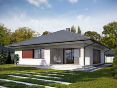 DOM.PL™ - Projekt domu TP Irysek 4 CE - DOM TP2-08 - gotowy koszt budowy Teak, Shed, Layout, Outdoor Structures, Outdoor Decor, House, Home Decor, Style, Houses
