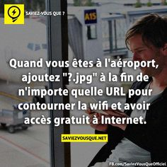 Truc et Astuces Good To Know, Did You Know, Le Wifi, Sem Internet, Thing 1, Things To Know, Affirmations, Fun Facts, Life Hacks