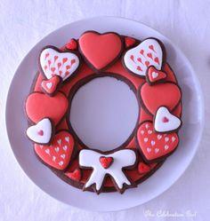 Chocolate Heart Cookie Wreath