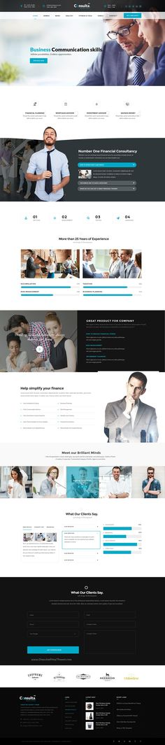 Consulta World is the Perfect #PSD template for corporate #website like Financial Advisor, Accountant, #Consulting Firms etc with 11+ stunning homepage layouts download now➯ https://themeforest.net/item/consulta-multipurpose-business-financial-psd-template-/16828542?ref=Datasata