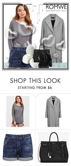 """""""romwe"""" by clarisa1-1 ❤ liked on Polyvore featuring rag & bone, Citizens of Humanity, Yves Saint Laurent, Valentino and Nivea"""