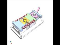 Pink cam lever controls the clamping process. Red springs maintain the contact between the cam and fllowers. It can be also used for a die of stamping underc...