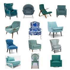 Blue As Turquoise Armchairs