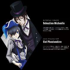 "Black Butler: Book of Circus ~~ Sebastian and Ciel aka ""Black"" and ""Smile"""