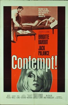 1963 movie poster & still | Contempt film poster from 1963