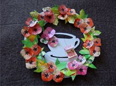 relaxace s pickwickem Origami, Mandala, Floral Wreath, Easter, Wreaths, Home Decor, Floral Crown, Decoration Home, Door Wreaths