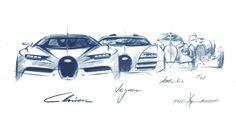 Bugatti Veyron Chiron Evolution Design Sketch